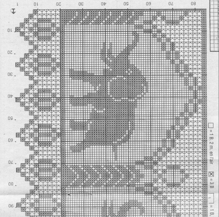 Gardine Filet häkeln ...  crochet - cortinas - curtains..