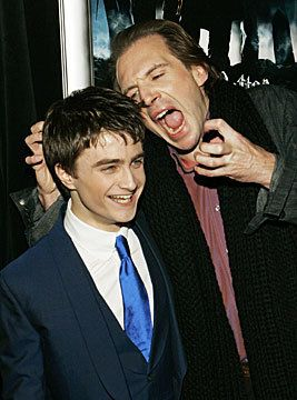 This is great. Ralph Fiennes and Daniel Radcliffe--Voldemort and Harry.
