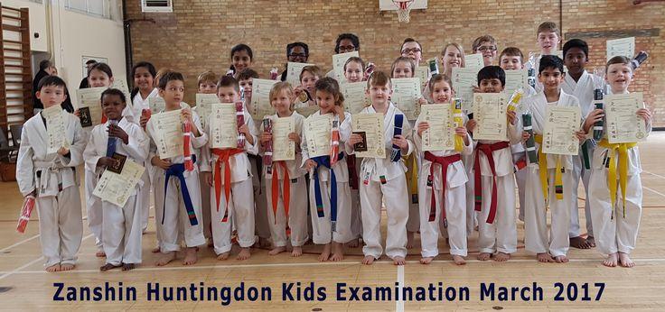 Kids karate examinations at Huntingdon Karate club March 2017