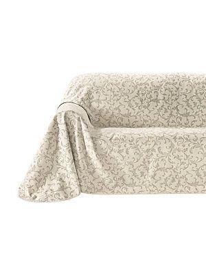 heine home - Sofaüberwurf creme/taupe im Heine Online-Shop ➤ Jetzt günstig bestellen auf heine.de