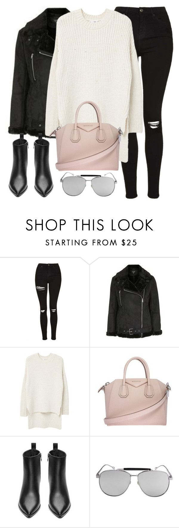 Untitled #2857 by elenaday on Polyvore featuring moda, MANGO, Topshop, Acne Studios, Givenchy, thevoice and YahooView
