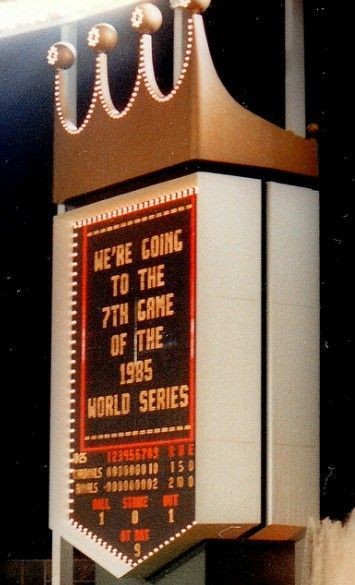 Kansas City Royals 1985 World Series - and I was there!