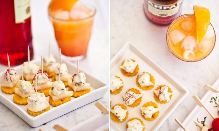 Křupavá polenta s hruškou a gorgonzolou dolce