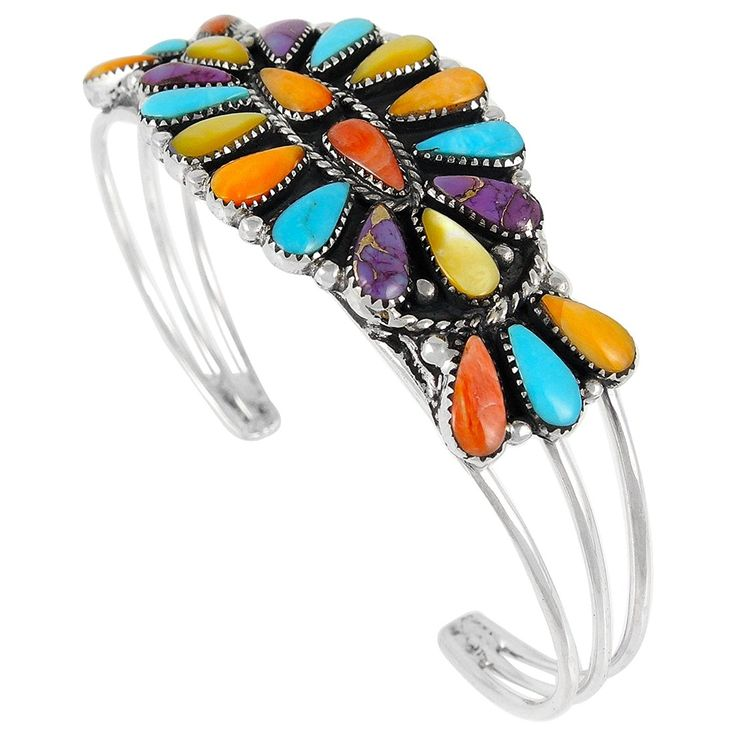 Southwest Style Gemstone Bracelet in 925 Sterling Silver ** Find out more about the great product at the image link. (This is an Amazon Affiliate link and I receive a commission for the sales)