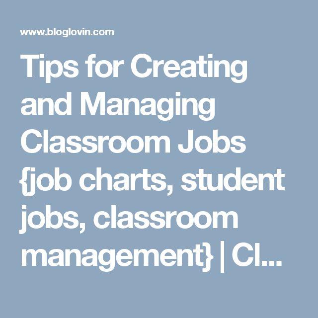 Best  Student Job Chart Ideas On   Job Chart Class