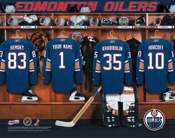 Man Cave Locker Room : Best personalized nhl hockey locker room print