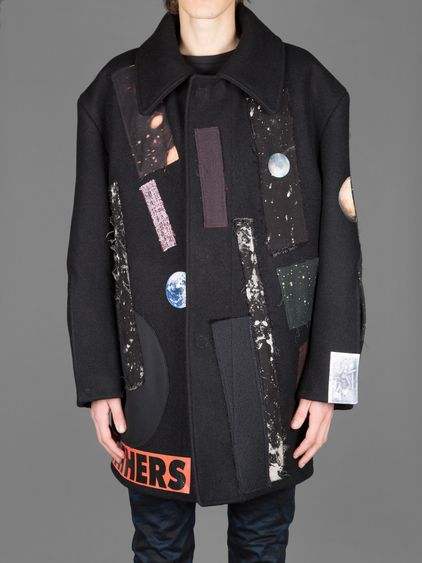 RAF SIMONS BIG CABAN WITH STERLING RUBY COLLAGES