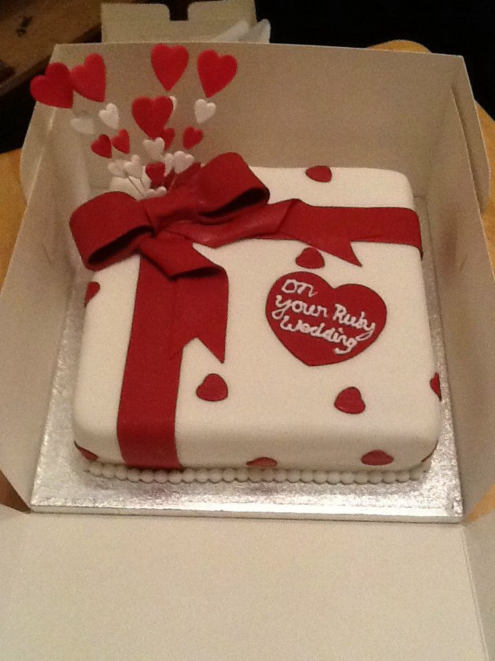 Ruby Anniversary Cake Images : 62 best images about Anniversary on Pinterest Wedding ...