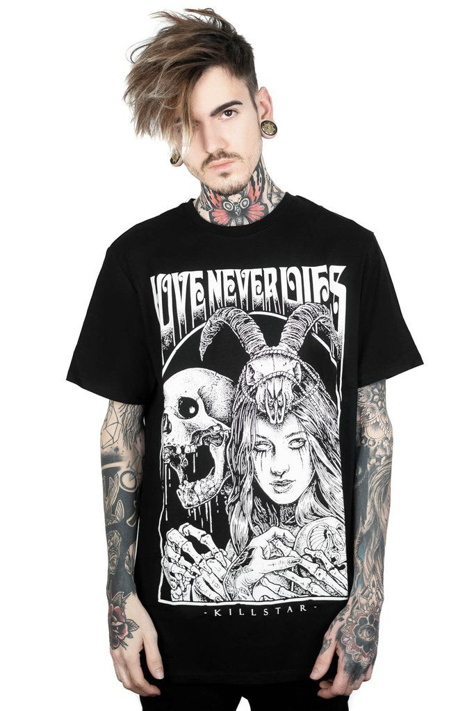 935979a5c0839 Love Never Dies T-Shirt  KILLSTARCO  KILLSTAR  WEAREKILLSTAR Classic fit  t-shirt with some extra length - in a superior cotton jersey with bold  statement ...