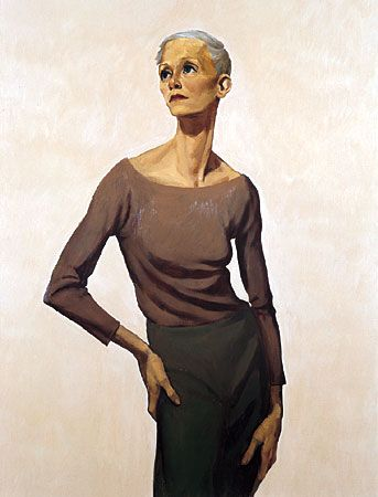 John Currin - oil on canvas - beautiful contemporary figure painting.