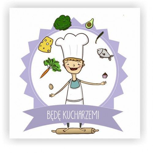 Framed Illustration with Kids Dreams Chef by Burr!