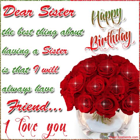 Birthday Wishes For Sister Quotes – Birthday Greeting for Sister