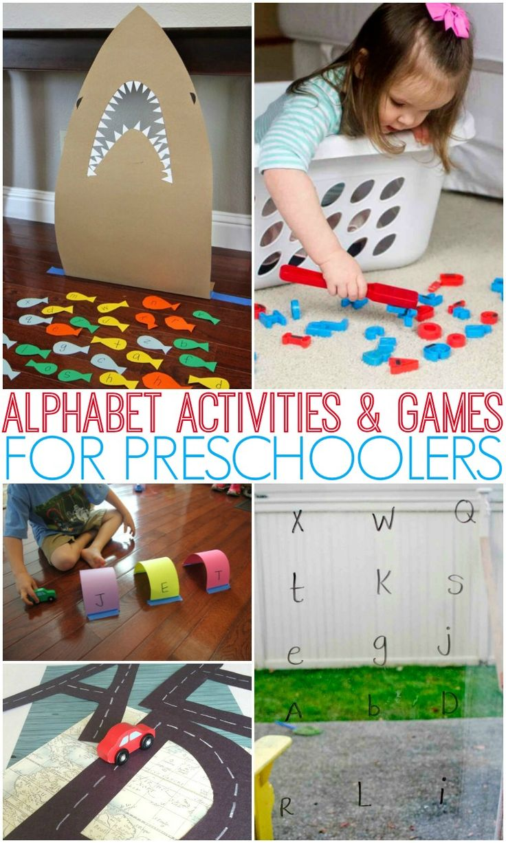 ABC games, alphabet activities, phonics activities, and more letter learning fun! #abc #alphabet #preschool