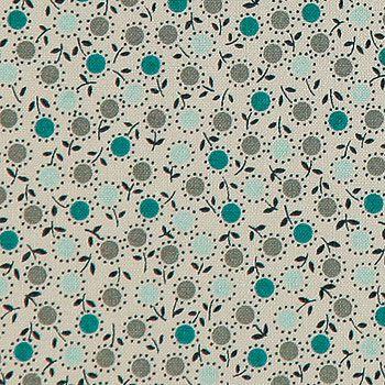 Baumwolle m/Blumen Staubgrün
