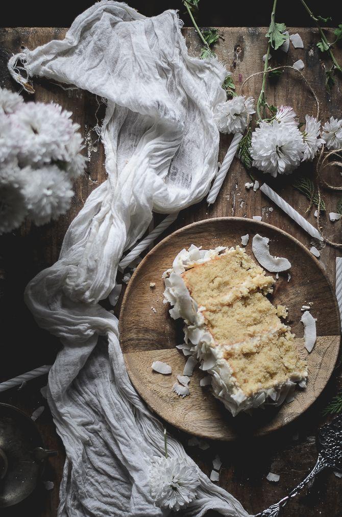 Coconut white layer cake