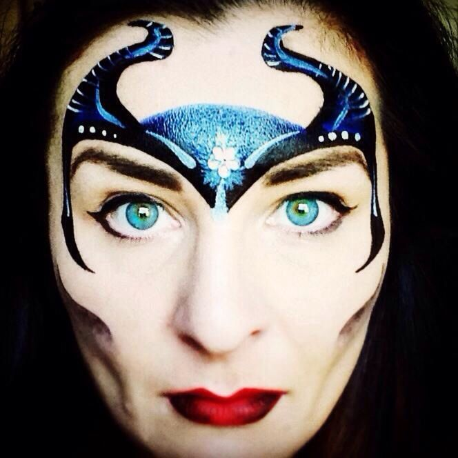 Maleficent face painting