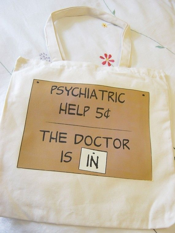 Psychiatric Help 5 Cents tote bag by Teesies on Etsy, $18.00