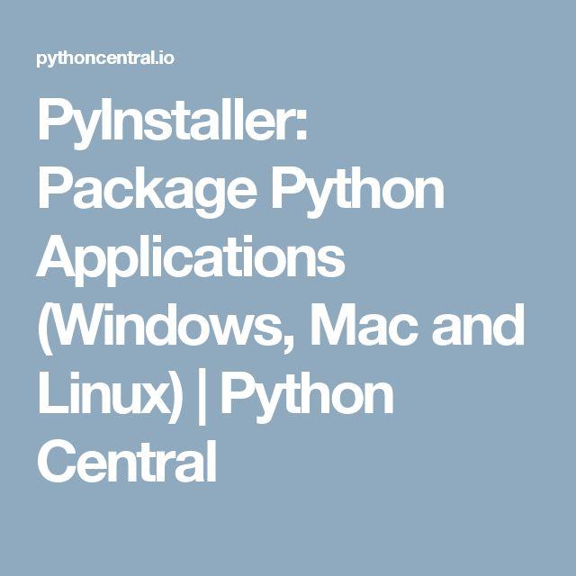 pyinstaller create linux executable on windows