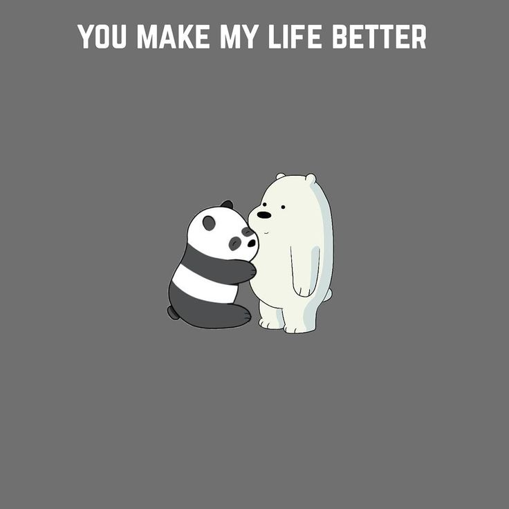 "20.3 mil Me gusta, 916 comentarios - We Bare Bears (@webarebears.official) en Instagram: ""Tag someone who makes your life better ❤ #sweet #panda #icebear #socute"""