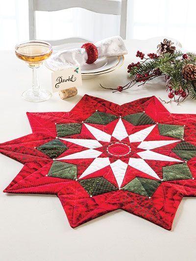 Christmas Table Topper Pattern from Annie's Craft Store. Order here: https://www.anniescatalog.com/detail.html?prod_id=134043&cat_id=1644