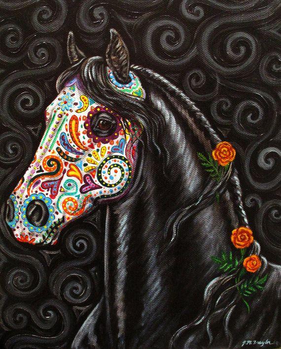 Dia de Los Muertos horse!