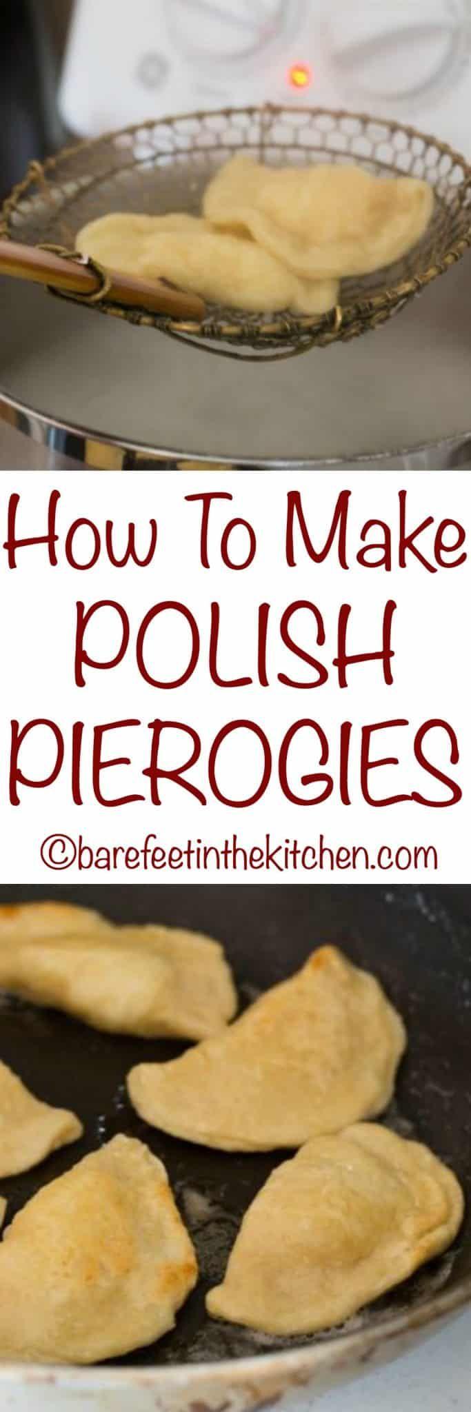 How To Make Polish Pierogies - get the recipe at barefeetinthekitchen.com