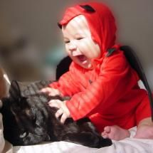 Devil Baby and Black Kitty