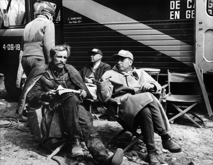 "Richard Harris, Sam Peckinpah on the set of ""Major Dundee"", 1965."