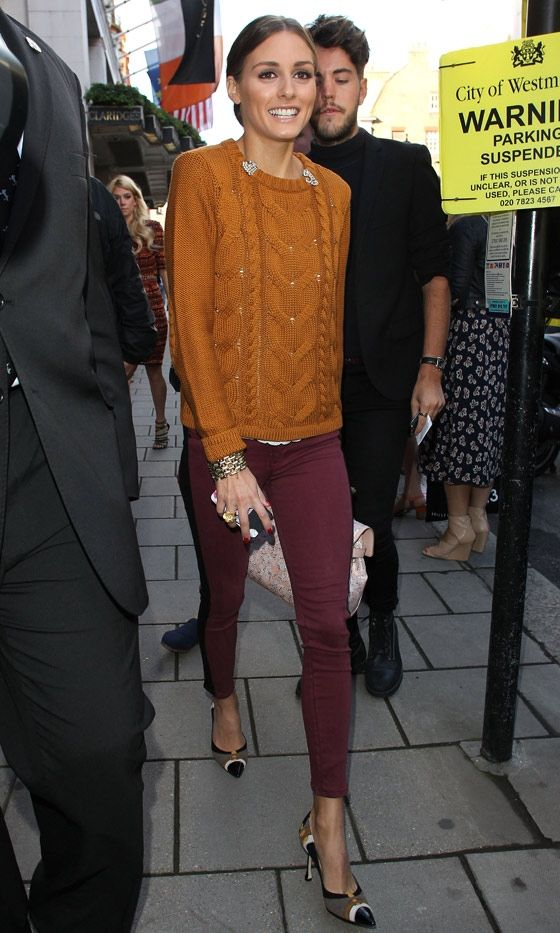 Olivia Palermo At The Mulberry Show At London Fashion Week SS13, September 2012 | Look. Love this color combo