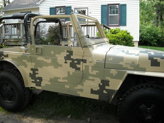camo paint digital camo jeep wranglers camouflage zombie pixel running. Black Bedroom Furniture Sets. Home Design Ideas