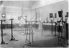 Photograph of the first Constructivist Exhibition, 1921
