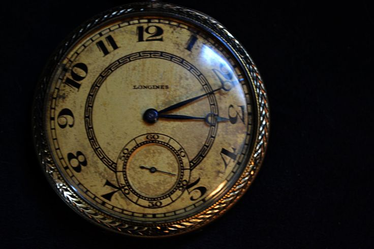 Vintage/antique rare 1920's  Longines open face pocket watch by Collectitorium on Etsy
