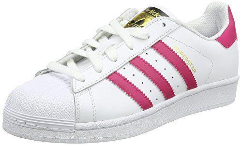 Adidas B23644, Chaussures de basketball Fille, Blanc – Weiß (Ftwr White/Bold Pink/Ftwr White), 38