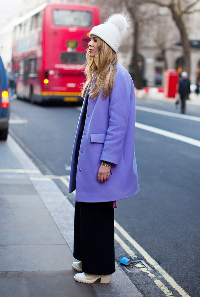 We'd be willing to bet your winter coat is a variation of brown, black, navy, tan, or olive. Change that up with one of our 13 favorite colorful coats.