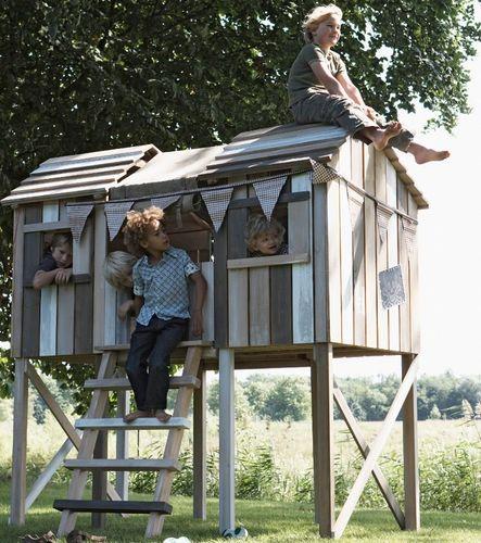 #cabane #enfant #jardin