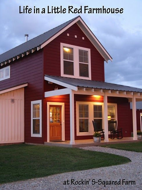 Modern pole barn house plans for Red barn prefab