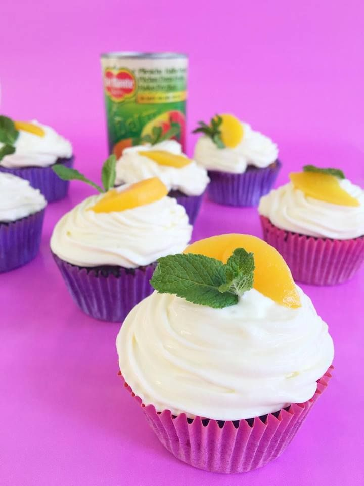 Frisse Cupcakes met perzik en zonder kleffe botertoefjes  easy & fresh Peach cupcakes without butter