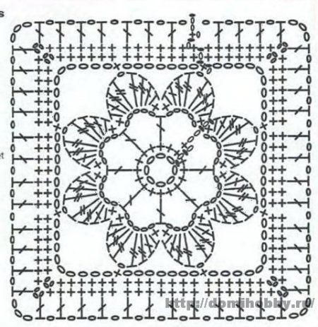 Motivi per uncinetto crochet square