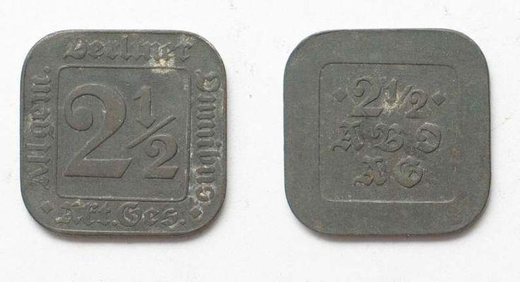 ALLGEMEINER BERLINER OMNIBUS 2-1/2 Pfennig ca.1920 Zink # 92251