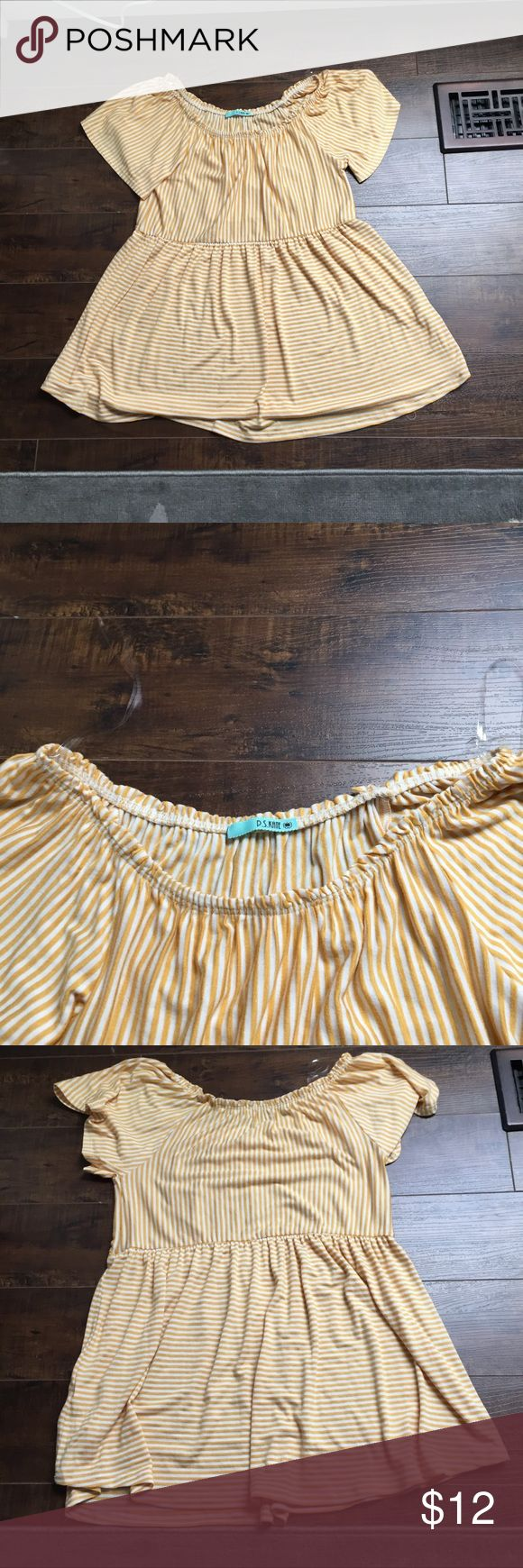 NWOT striped babydoll top cute top from a local boutique near me! • soft & comfortable • NWOT —> bought it on black friday & it doesn't fit! • make an offer! all reasonable offer accepted 🌿 PS Kate Tops Blouses