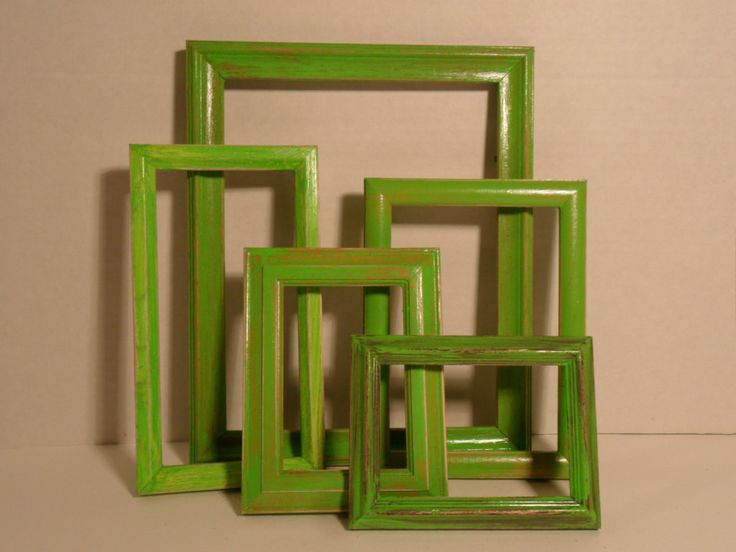 Lime Green Picture Frames Shabby Chic Photo Gallery Collection Set Country Farmhouse March Spring Summer Home Decor Beach Cottage Island. $49.99, via Etsy.