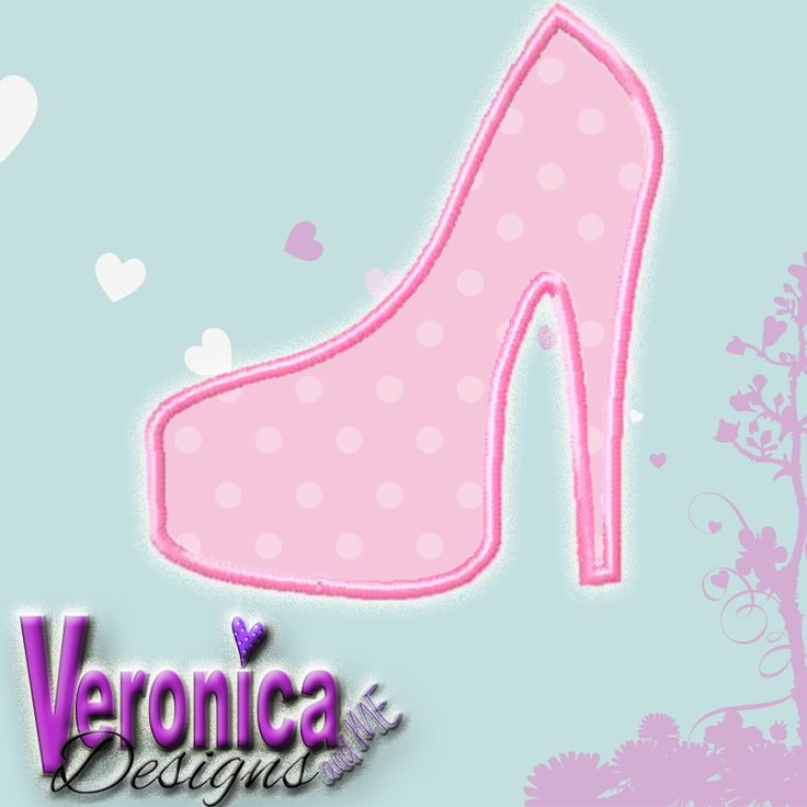 Stiletto Shoe Applique Design