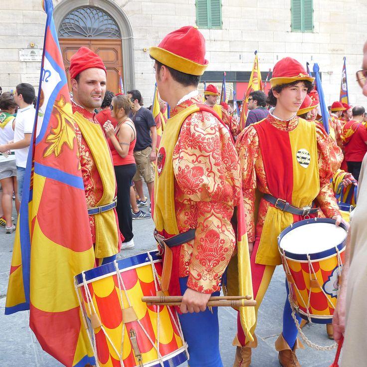 part of the procession for Contrada della Chiocciola