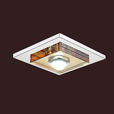 3W LED âmbar de cristal luz de teto, uma luz, montagem embutida – BRL R$ 119,10