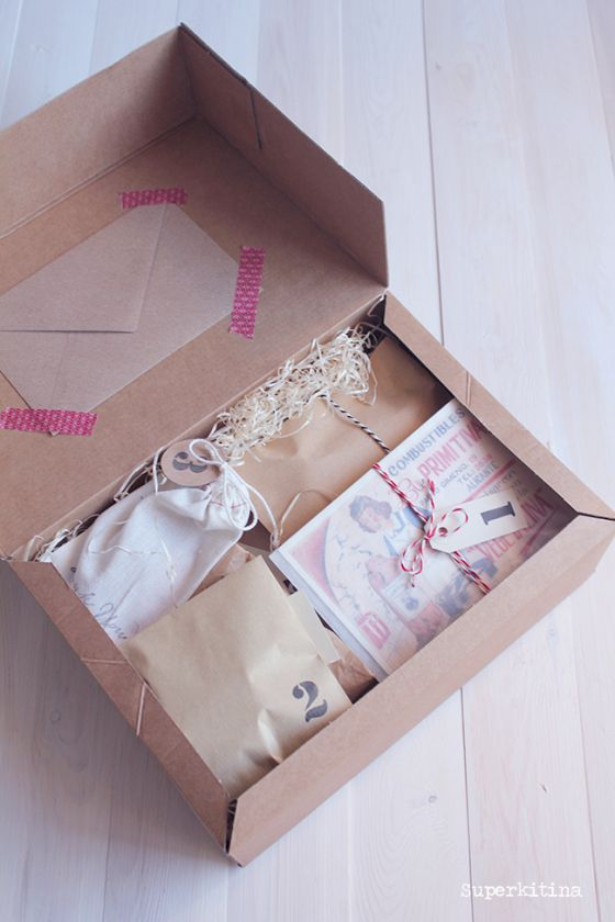 Parcel decorated with washi tape