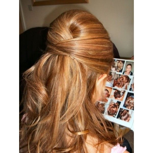 Possible Bridesmaid Hairdos ❤ liked on Polyvore