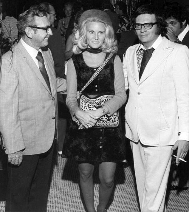 Larry King with his third wife, Playboy bunny, Alene Akins.