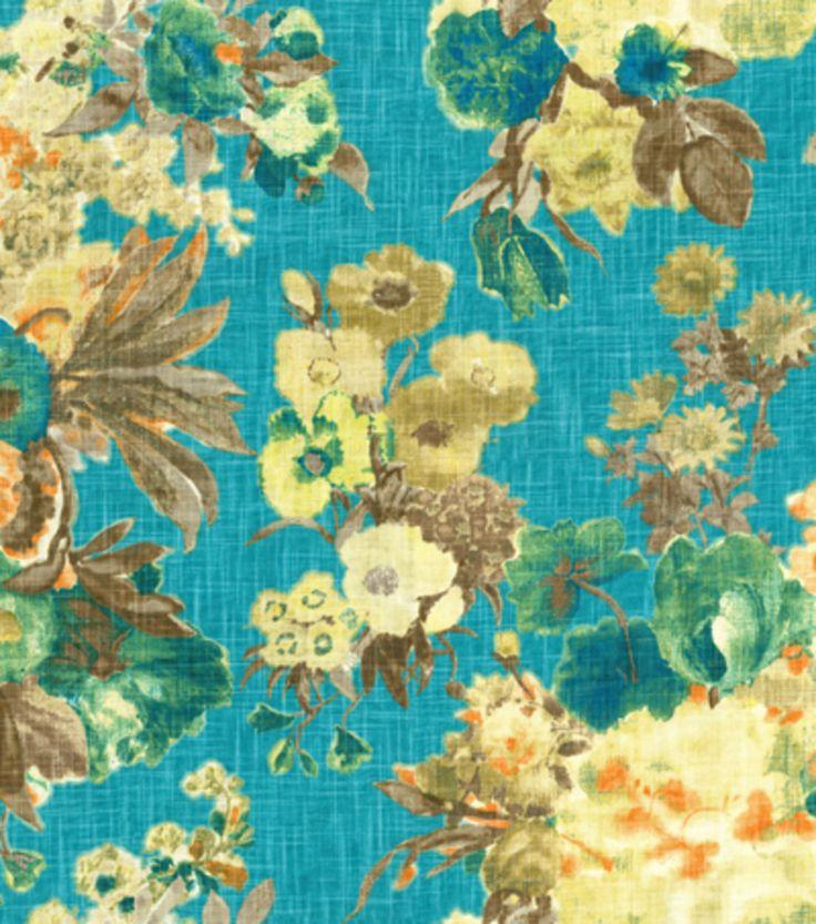 Hgtv Home Decor Print Fabric Garden Odyssey Lagoon Hi Res