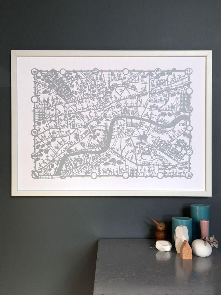 Mapa London%0A London map by Famille Summerbelle