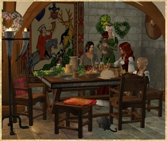 medieval dining room sets   95 best Medieval Sims 2: Dining Room images on Pinterest ...